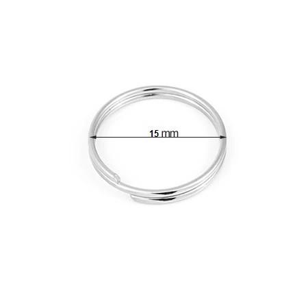 Inele metalice ALCO pentru chei,D 15mm, 10 buc/set