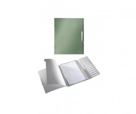 Mapa cu 6 separatoare Leitz Style PP, capacitate 200 coli, inchidere cu elastic, Fistic