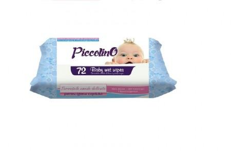Servetele umede delicate Piccolino Blue 72buc/pachet