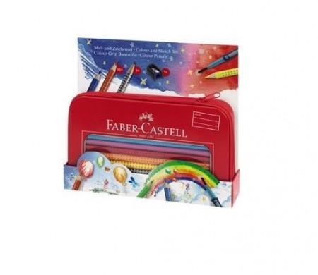 Set Cadou Desen Si Pictura Colour Grip Faber-Castell 16 culori +ascutitoare