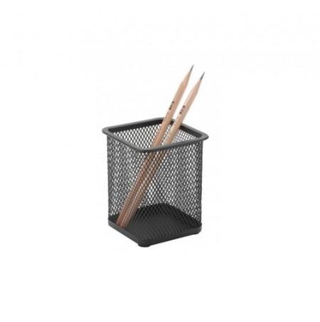 Suport metalic Mesh, pentru instrumente de scris, patrat, Q-Connect