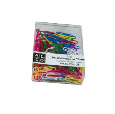 Agrafe colorate 32 mm, 100/cutie, ALCO - asortate