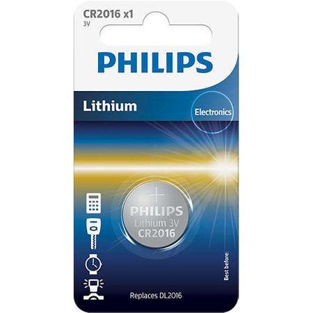 Baterie Philips Lithium CR2016, 3V, 1 buc