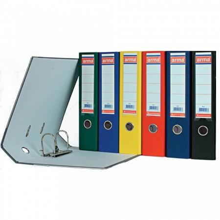 Biblioraft A4 Plastifiat 75 mm ALPHALINE diverse culori