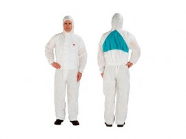 Combinezon de protectie clasa 5/6 3M alb si albastru