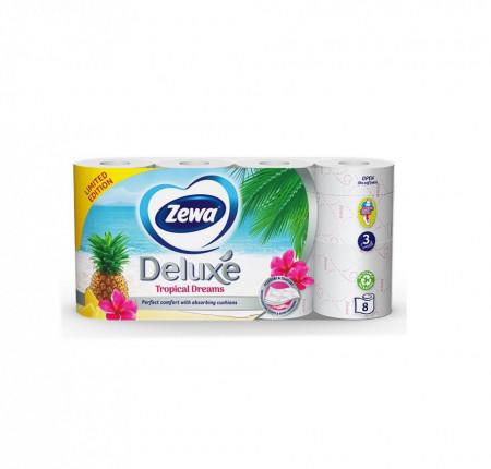Hartie igienica ZEWA Camomile comfort Deluxe parfumata, 3 straturi, 8 role/set