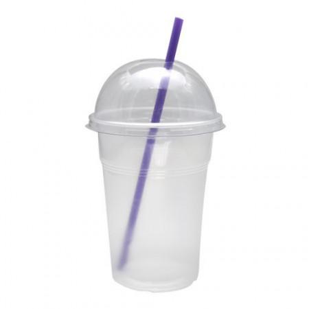 Pahare plastic Transparent Frappe Safir 400 ml, 50 buc/set