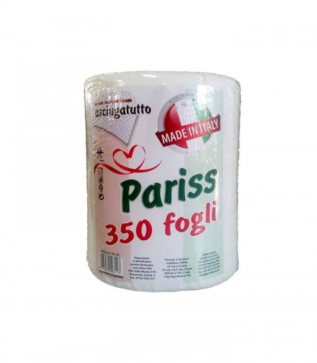 Prosop Hartie bucatarie Pariss 19 x 22 cm, 2 straturi, 350 foi