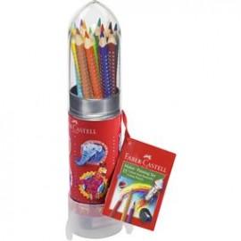 Set Cadou Racheta 8 Creioane Colorate Grip si Ascutitoare Faber-Castell
