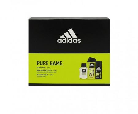 Set Caseta Cadou Adidas Pure Game After Shave 50 ml + Body Spray 150 ml + Gel De Dus 3in1