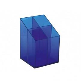 Suport pixuri Ico Quadrate, transparent, Albastru