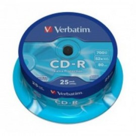 VERBATIM CD-R 52X 700MB SP25/ extra protection