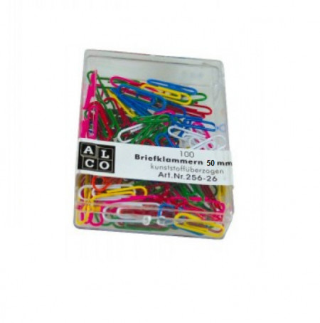 Agrafe colorate 50 mm, 100/cutie, ALCO - asortate