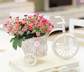 Bicicleta cu cos Decor flori, chei, invitatii nunta-botez, si alte obiecte