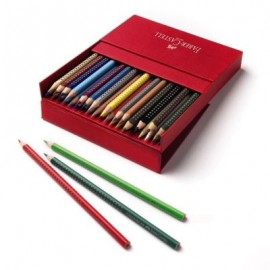 Creioane colorate 36 culori cutie cadou grip 2001 Faber Castell