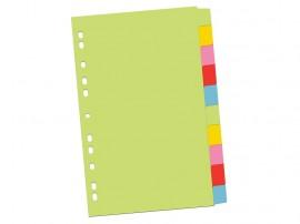 Index din carton 10 cul/set