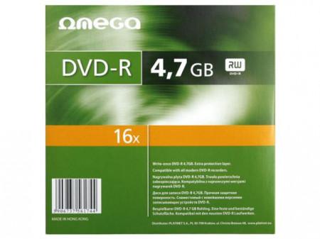 Omega DVD+R, 16X, 4.7Gb, carcasa slim, 10 buc/set