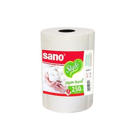 Prosop Hartie bucatarie Sano Style 26x23 cm, 2 straturi, 250 Foi