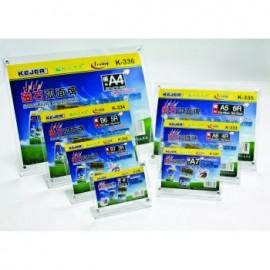 Display plastic cu magneti, pentru pliante, forma curbata, A5-landscape (203 x 152mm), KEJEA -transp