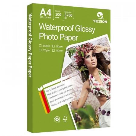 Hartie FOTO Glossy A4 Waterproof 180g/mp 20 coli/pachet, YESION