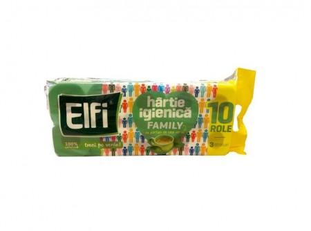 Hârtie igienică Elfi Family 3 straturi, 10 role parfumate