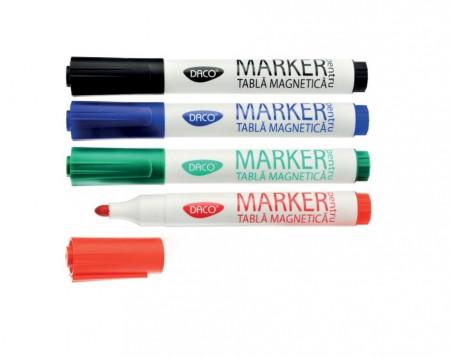 Marker pentru tablă magnetică Daco negru, albastru, roşu, verde