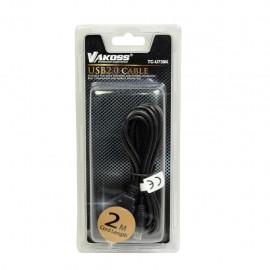 Vakoss Micro USB Cablu 2.0 A-B M/M 2m   black, cablu date