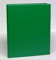 Caiet mecanic 2 inele - D25mm, coperti carton plastifiat PVC, A4, AURORA - verde