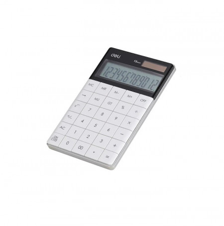 Calculator Birou Deli Modern Touch 1589, 12 digiti, alb