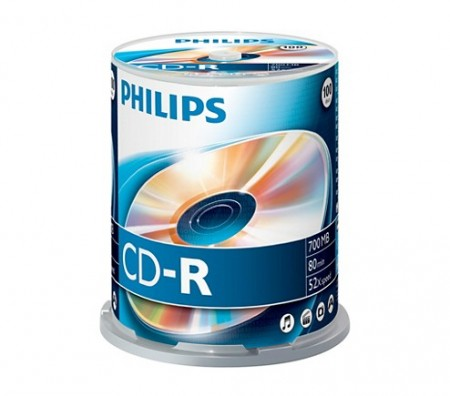 CD-R 700MB-80min (100 buc. Spindle, 52x) PHILIPS
