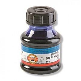 Cerneala la borcanel de 50 ml albastru sau negru,  Koh-I-Noor