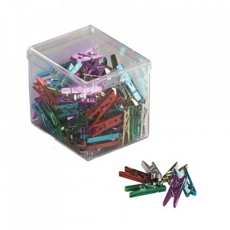 Clesti din platic cu arc, pentru prindere fotografii, poze, 25mm, 20 buc/cutie, ALCO