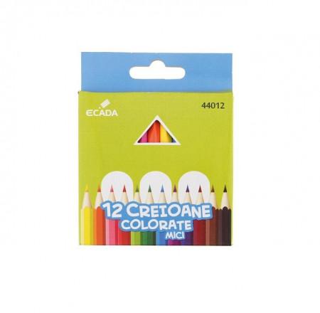 Creion color mici 12 culori Ecada
