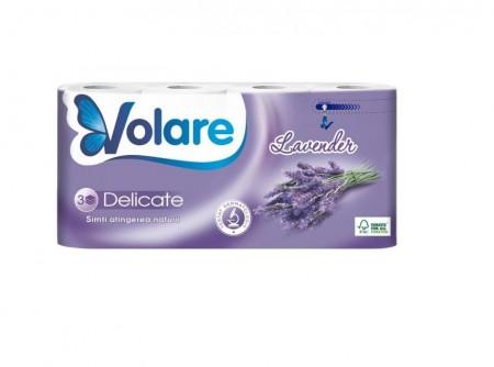Hartie igienica 3 straturi Deluxe 8 role Volare Delicate