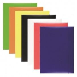Mapa carton plastifiat cu elastic 300 gr, Office Product, diverse culori