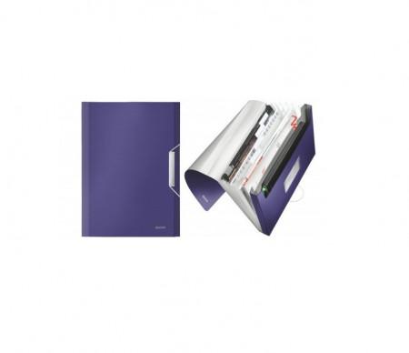Mapa tip Proiect LEITZ Style, plastic PP - Albastru-Violet