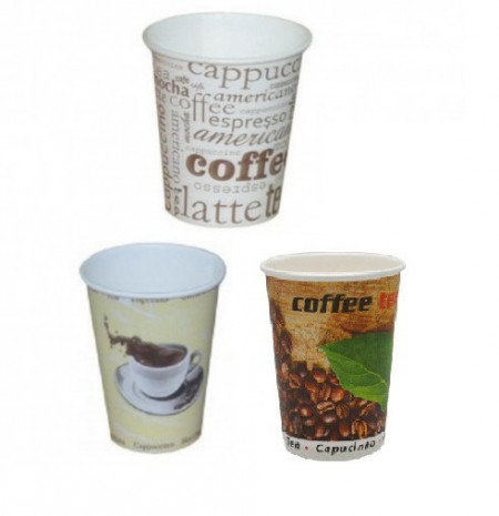 Pahare Carton 240 ml, model Cafea 50buc/set