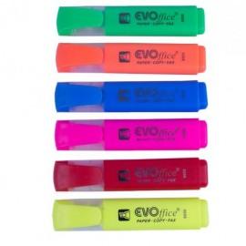 Textmarker Evoffice 8008, - galben,verde, roz, orange, albastru, rosu