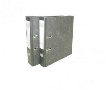 Biblioraft A4, Marmorat margine metalica, 75mm, DP