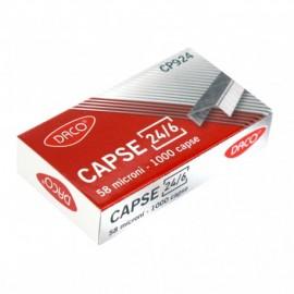 Capse 24/6 DACO 1000 bucati/cutie 58 microni