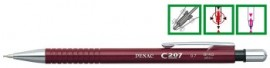 Creion mecanic PENAC C205, 0.5mm, con si accesorii metalice - corp verde inchis