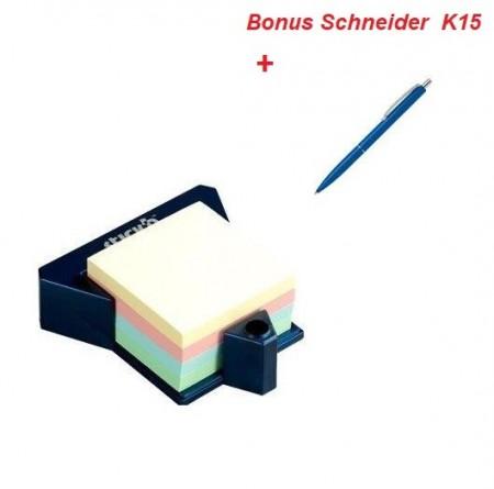 """Cub autoadeziv cu suport, 76 x 76 mm, 400 file, Stick""""n - 4 culori pastel"""