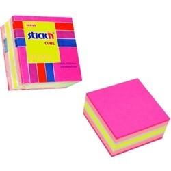 "Cub notes autoadeziv 51 x 51 mm, 250 file, Stick""n - neon/pastel asortate Roz"