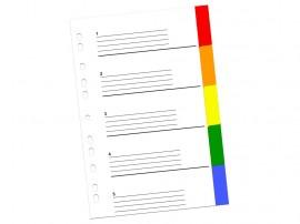 Index color din plastic 5 buc/set