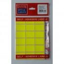 Etichete autoadezive color, 22 x 32 mm, 180 buc/set, Tanex, fluorescent
