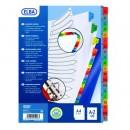 Index plastic color alfabetic A-Z, A4 XL, 120 microni, ELBA