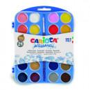 Acuarele lavabile, 24 culori si 1 pensula, CARIOCA
