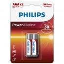 Baterie Power Alkaline LR03P2B/10, AAA, 2buc/set