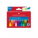 Creioane cerate triunghiulare 24 culori Faber-Castell
