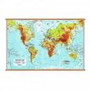 Harta fizica a Lumii 100x140 cm, AMCO plastifiat